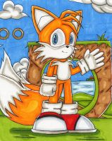 Tails Copic Marker by DragonQuestHero