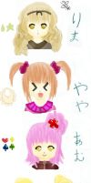 Shugo Chara Girls by BriBriBlitz