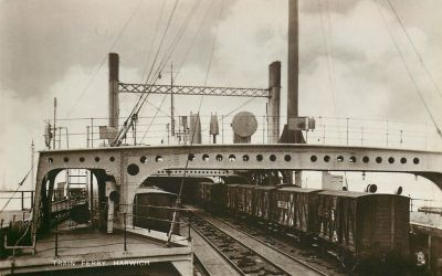 Vintage UK - Harwich Train Ferry by Yesterdays-Paper