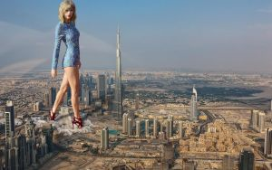 Gigantic Taylor Swift in Dubai by Cinematic-GTS