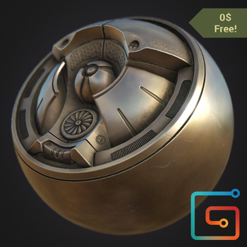 PBR Substance Material - Statue Metal [Free] by PLyczkowski