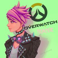 Punk Tracer Overwatch by DarthAnYang