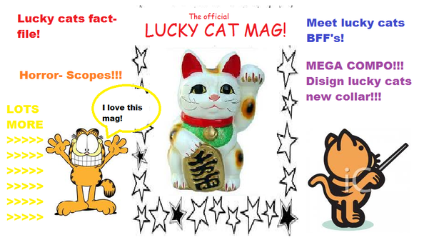 Lucky cat mag (cover) by LittleWolf10