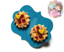Waffle Studs by colourful-blossom