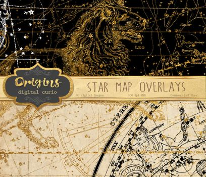 Star Map Overlays by DigitalCurio