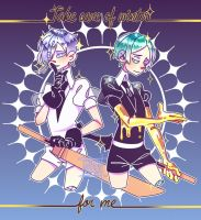 [FANART] Houseki no Kuni - Antarticite and Phos by YoisaDrowsy