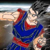 Son Gohan - coloured in by YamiKizuna