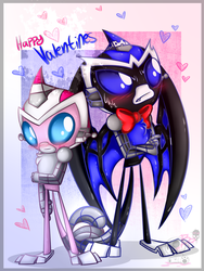 Happy Valentines day 18: ima and blade tail touch by BloodyPink-M