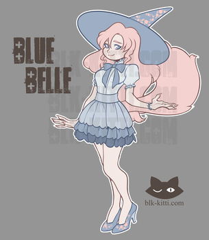 Flat Price Adopt - Blue Belle [SOLD] by blk-kitti