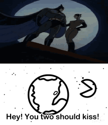 The moon wants Batman and Catwoman to kiss by menslady125