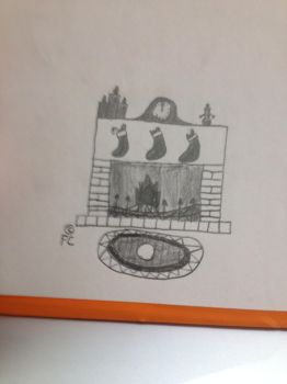 [25DDD](Day 2) Black and White Fireplace by ForbiddenCovenant