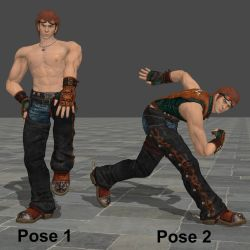DL Hwoarang Pose Pack by Violachanbro
