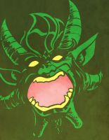 Another Green Devil Face by mrdestructicity
