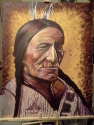 Sitting Bull  by JCVazquezart