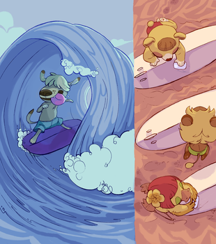 SURFING ANIMALS by Stofu