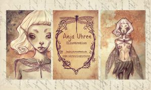 Dragonfly Businesscards by anja-uhren