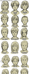 shingeki no large cast by ryounkura