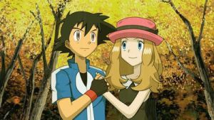 Satoshi/Ash and Serena by Empire-of-PokeJapan