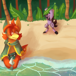 Beach Collecting  by Kaklaid
