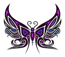 Tribal Butterfly by Dessins-Fantastiques