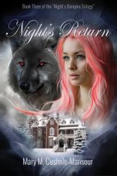 Book cover Night'sReturn by Mary M.Cushnie-Mansour by CathleenTarawhiti