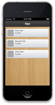 iOS Custom UITableView by domness