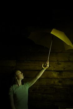 Kris and the Yellow Umbrella I by sneekie-fochs