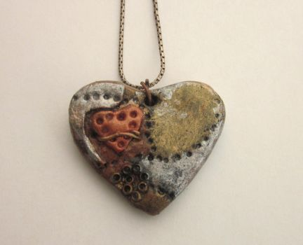 Heart Steampunk Necklace by FantasyDesigns1