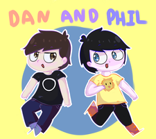 Dan and Phil by IcyTheArtist