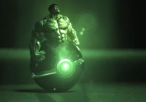 The Pokeball of The Hulk by wazzy88