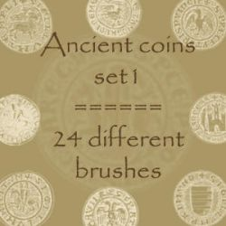 Ancient Coins 1 by rL-Brushes