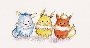 Eevee Evolution by ricecuni