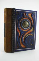 Blue Flame Leather Book by McGovernArts