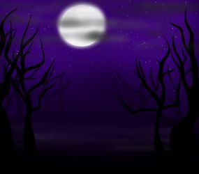 Spooky forest by tigerclaw64