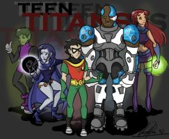 Teen Titans by Curly-Qs
