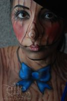 Marionette face/body paint by ElleFX