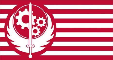 Fallout Flag Brotherhood Of Steel by OSFlag