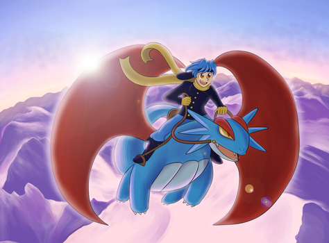 HL: Dragon Rider by Captain-Coffee
