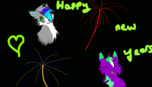 happy new years^^ by StarFlareTheCat