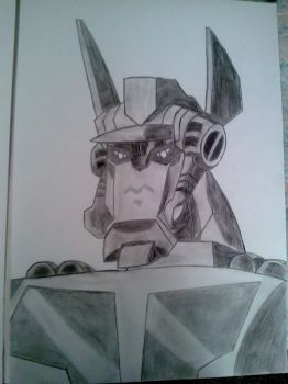 Optimus Prime Animated 48 x 33,5cm by SALVAGEPRIME8686