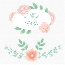 Floral Watercolor Pngs by Brand-NewEyes