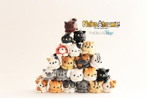 Neko Atsume Polymer Clay Charms by theblueskye