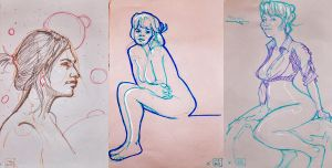 Life drawings - May 2012 by Gizmoatwork