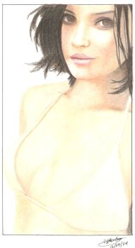 rachel leigh in colored pencil by noahfrost01