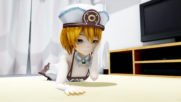 MMD Blanc Relaxed by Chiba-Taiki