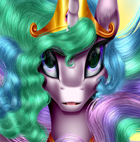 Celestia Portrait by Crazyaniknowit