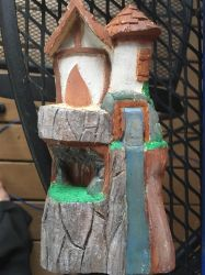Fairy house work in progress by CarvingConsugar