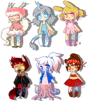 DTA::Animal Fashion Adopts (CLOSED) by JessiAdopts