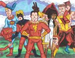 Captain Marvel Extended Family by Air-Raid-Robertson