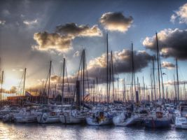 Sunset port VIII by digitalminded